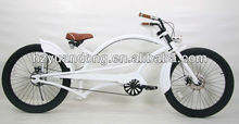 """24"""" white carbon steel specalized beach cruiser chopper bicycle"""