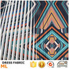 3D pleated printing dress fabric for garment print designs women's clothing