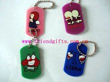 2012 New style Hot selling fashion 3D PVC/rubber /silicone dog tag for dogs with metal/ring chain(dog accessories)