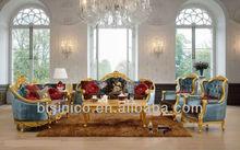 Reali europee mobili in stile salotto, antico divano classico set, divano di lusso in Golden