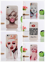 Customized Printed Terror Stylish Marilyn Monroe Bubble Gum PC Hard Cover Case For Apple iPhone 5 5S Phone Case