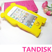 Soft 3D Cute Teddy Bear Silicone Cover Skin Case Back For Apple Iphone 5 5S