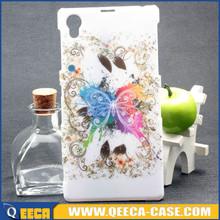 Custom design plastic case fancy back cover case for sony xperia z1