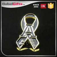 Factory direct sale custom metal chrome auto sticker badge emblem