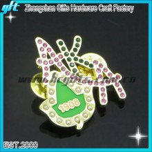 Company logo shape pin badge for festivity and celebration activities