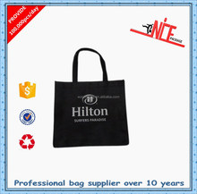 China commercial black non-woven shopping bags
