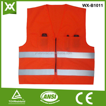 fashion design hi visibility safety red fluorescent wear
