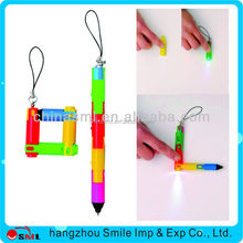 2015 popular plastic pen with light LED Light Pen and printing logo