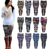 New Women Warm Thick Soft Fleece Lined Inside Full Length Winter Pant Leggings