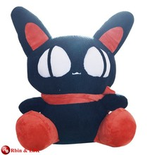Customized OEM ! black cute cat stuffed toy