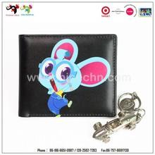 Made in China dos desenhos animados impresso com coin purse mulheres carteira de couro