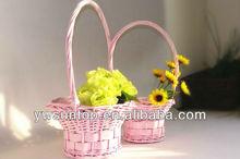 wedding flower girl rattan basket accessories