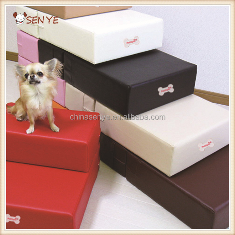 escaliers de chien en cuir pliable pour animaux de compagnie escaliers tanche chien escaliers. Black Bedroom Furniture Sets. Home Design Ideas