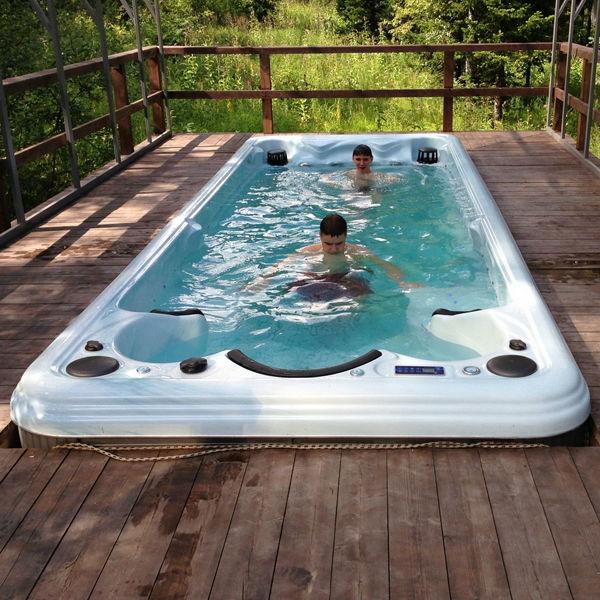 balboa sistemi taşınabilir dikdörtgen fiberglas havuz masaj spa jetleri