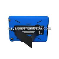 Soft silicon cover for ipad mini 3 kickstand case / cheap wholesale for ipad mini 3 robot case / 3 in 1 case for ipad mini 3