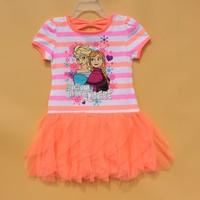 Children Clothes Girls Frozen Costumes Girls Cotton Dress Materials