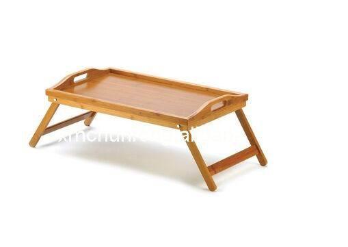Экологичный бамбук / кровать лоток с складные ножки