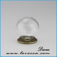 tall glass round cloche /glass oval dome /oval glass cloche