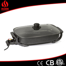 FH-3038C electric ceramic skillet with tempered glass lid( ETL approval)