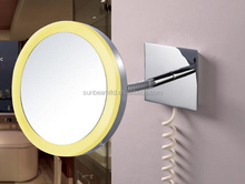 Wall Mount LED Square Magnifying Mirror With Light
