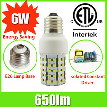7 edge emitting light 6W e14 led bulbs for home