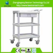 Chinese BT-UY006 Multi- Layer ABS Utility Hospital Medical Trolleys With Drawer utility cart for sale