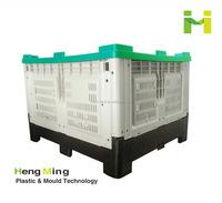Fruits Vegetables HDPE plastic foldable crate pallet
