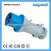 2013 New IP44 Plastic Roll Plugs 3 Pins