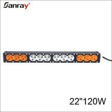 """New design 22"""" 120W 12V Roof Rack 4x4 White and Amber Offroad LED Light Bar"""