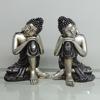 Home indoor decorative polyresin silver buddha figures