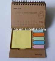 Combined With Calendar Sticky Note Desk Stationery