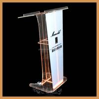 GH-YZ055 experianced acrylic rostrum manufacturer supplier, design of acrylic rostrum, church rostrum