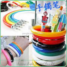 2015 Promotion Bracelet Plastic Flexible Ball Pen