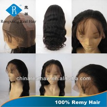 Unprocessed Full Curticle 100% Human Hair Body Wave full silk cap lace wig