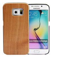 China Manufacturer ! Custom wood hard case cover for Samsung Galaxy S6 edge, PC+bamboo wood phone case