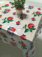 plastic sheet table cloth for sale pvc clear printed table cover