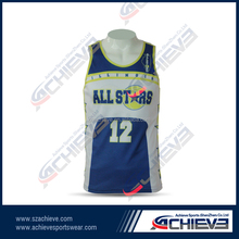 customized youth basketball jersey custom sublimation basketball top for basketball club