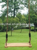 wooden swing,playground equipment
