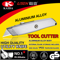 spare 2pcs bladeTrapezoid blade Aluminium Alloy Utility Knife