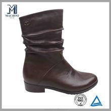 2014 Cute low cut dark brown fur winter boots