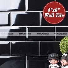 """En stock 4 """" x 8 """" multicolor borde biselado azulejo de la pared"""
