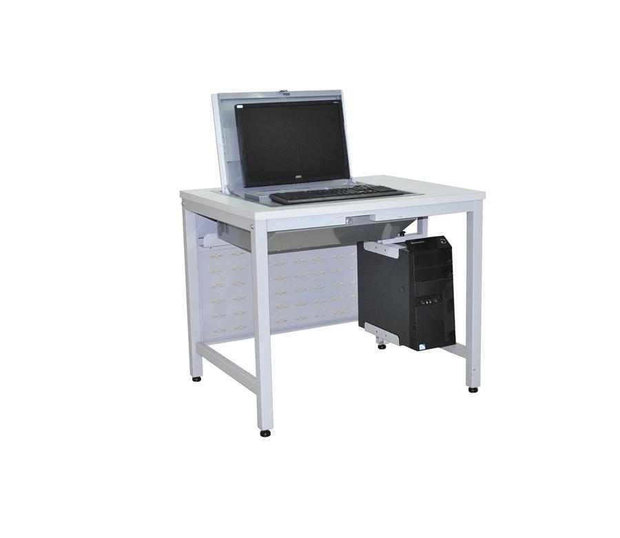 Steel school flip computer desk pcz 004a buy school for Flip top computer desk