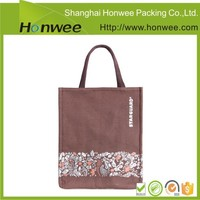 high quality wholesale vinyl full color printing jute tote bag
