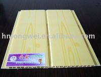 pvc ceiling tile,Middle groove with golden lines,wooden design
