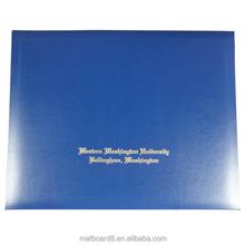 Graduation certificate university diploma folder, pvc diploma certificate