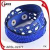 Bracelet making supplies leather bracelet blue leather bracelet girls