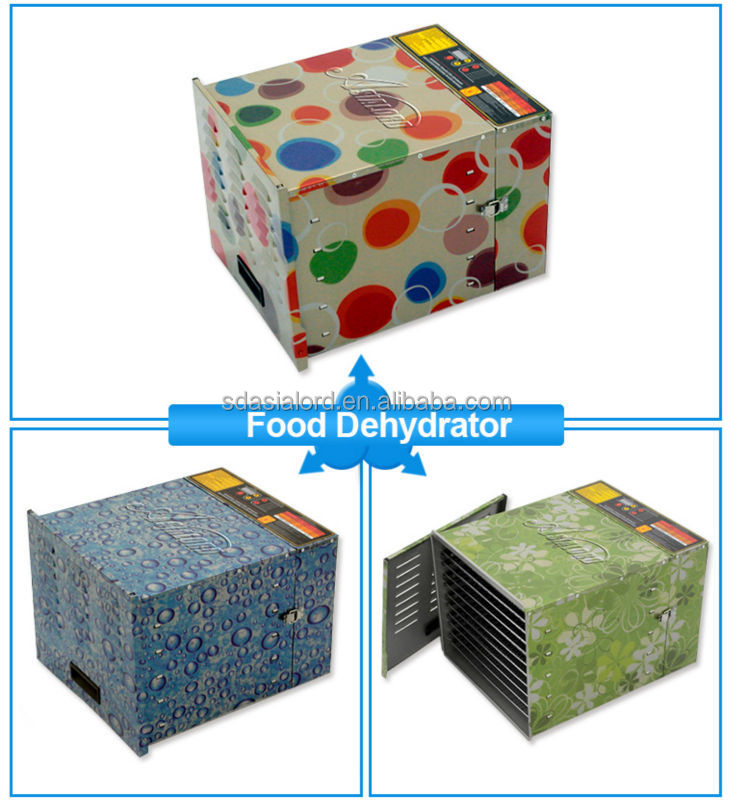 2015 Kitchen Appliance Colourful 10 Trays 1200W 220v Food Dehydrator Made In China