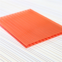 frosted polycarbonate panels colored lexan hollow policarbonato clear plastic roofing sheets