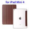 Hot Selling 3 Folding Flip Leather Case for iPad Mini 4