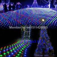 2014 New Colorful Twinkle Lighting 200 LED Net Mesh Decorative Fairy Lights Christmas Wedding Party Lamp US/110-240V TK1258